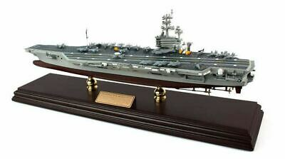 "USS Intrepid Aircraft Carrier Built 30"" Wooden Desktop Model Ship Assembled"