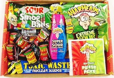 sour American sweets combo usa candy warheads toxic waste super sour drops smog