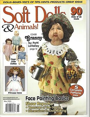 Soft Dolls & Animals Magazine, features & techniques. Patterns & Tips - May 2009