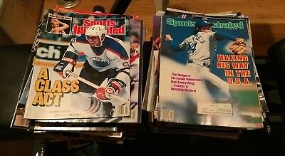 SPORTS ILLUSTRATED 1980s 1990s - Mixed Random Lot of 4 Magazines - VG COND+