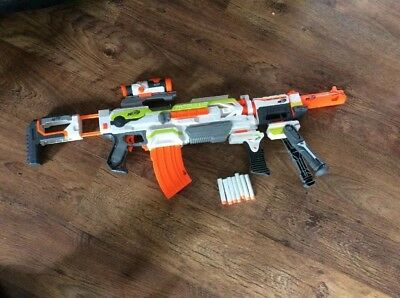 Nerf N-Strike Modulus Blaster With Scope,magazine And Bullets Tripod