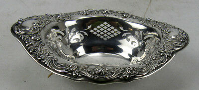 Gorham Sterling Silver Candy Bon Bon Nut Dish #A290 Repousse Pierced Footed