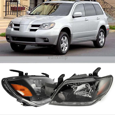 2*Front Head lamp Headlights Assembly Set Fit For MITSUBISHI OUTLANDER 2003-2005