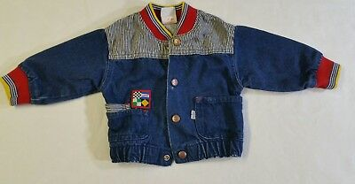 VINTAGE LITTLE LEVI'S Toddler Denim Bomber Jacket 18 Months Made in USA