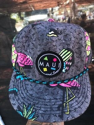 2cf512de537801 Maui & Sons Men's Savage Hat Pineapple Flip Up Bill Flamingo Retro SnapBack