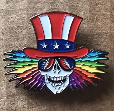 Grateful Dead Uncle Sam Lapel Pin. Hat Pin. Steal Your Face.  High Quality!