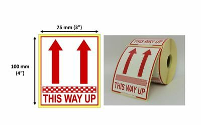 This Way Up 25mm Core Roll Labels Choose Quantity