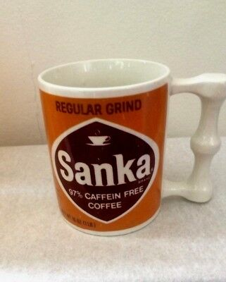 Vintage SANKA Coffee Cup 1960/70's Instant Coffee Advertising Rare FREE SHIPPING