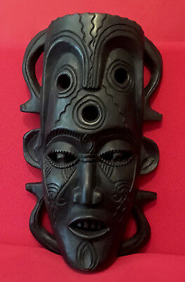 Hand Carved African Wooden Mask (Large)