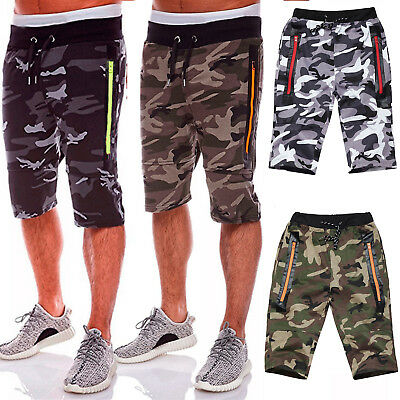 Men's Camouflage Casual Shorts Gym Jogging Running Sports Short Pants Trousers
