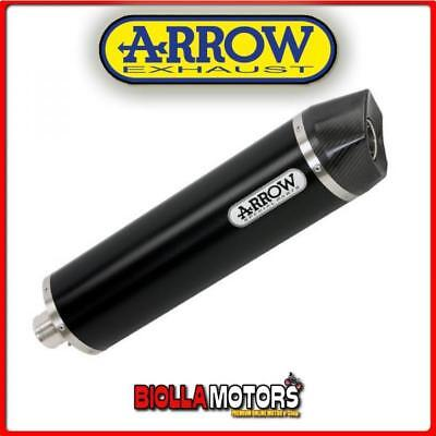 72612Akn+71407Mi Silenziatore Arrow Maxi Race-Tech Bmw F 800 Gs 2008-2013 Dark/c