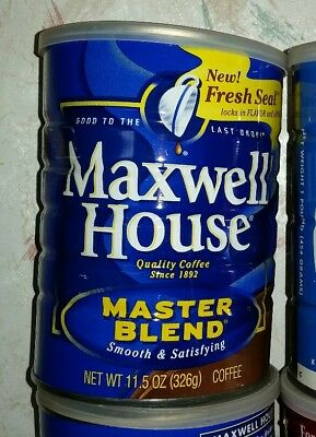 VINTAGE METAL 11.5 oz COFFEE CAN MAXWELL HOUSE CRAFT STORAGE GARAGE CONTAINER