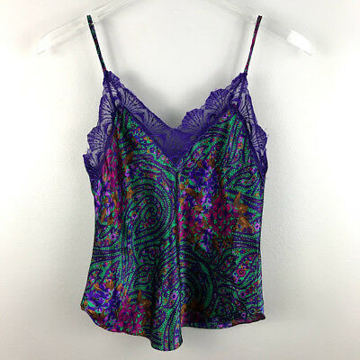 Victoria's Secret Camisole Small Vintage Lace Floral Lingerie Womens Sleeveless