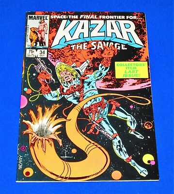 KA-ZAR The Savage Issue #34 [Marvel 1984] FN/VF or Better!