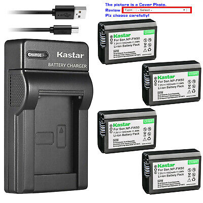 Kastar Battery Slim USB Charger for Sony NP-FW50 BC-VW1 & ILCE-6000 Alpha a6000
