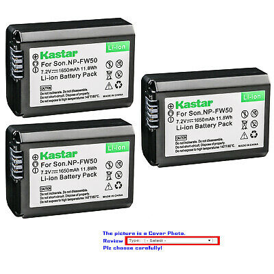 Kastar Replacement Battery for Genuine Sony NP-FW50 Sony Original BC-VW1 BC-TRW