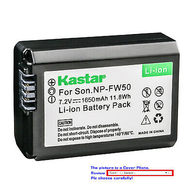 Kastar Replacement Battery for Sony OEM NP-FW50 & Sony Genuine BC-VW1 BC-TRW