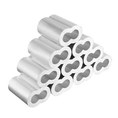 10pcs 1/2 inch (12mm) Diameter Wire Rope Aluminum Sleeves Clip Fittings Cab N7K3