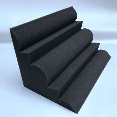 4 pcs Corner Bass Trap Acoustic Panel Studio Sound Absorption Foam 12*12*24 N9U3