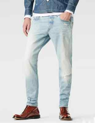 fb1f20758d8 JEANS G-STAR 3301 TAPERED (wisk-lt aged destroy) SIZE W33 L34 VALUE ...