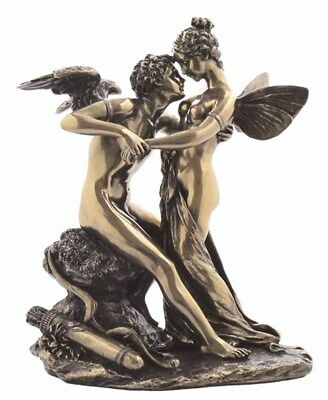 """Ancient Greek Cupid and Psyche In Love  6.7/8""""  Cold Cast Bronze Statue"""