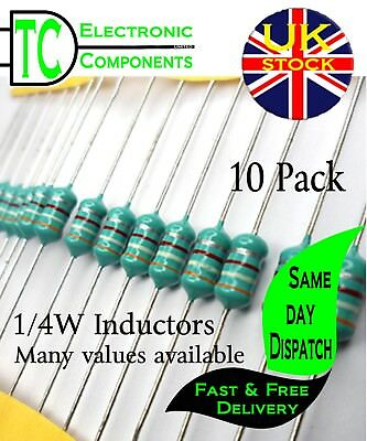 Inductor / Coil / Choke 1/4W Many values available (colour wheel) **UK SELLER**