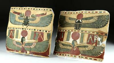 Lot of 2 Egyptian Cartonnage Fragments Lot 1C