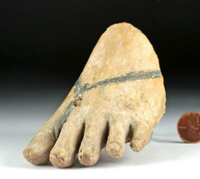 Naturalistic Egyptian Left Foot - Wood w/ Gesso Lot 1B