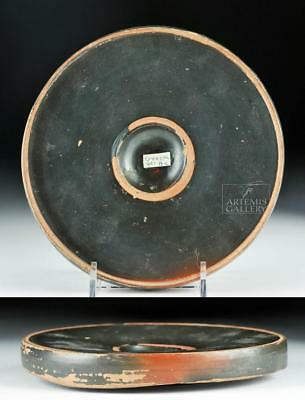 Greek Apulian / Campanian Black Glazed Footed Plate Lot 33B