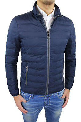 Jacket Mens Quilted Jacket Diamond Echo Feather Blue Bomber Jacket New M to 4XL