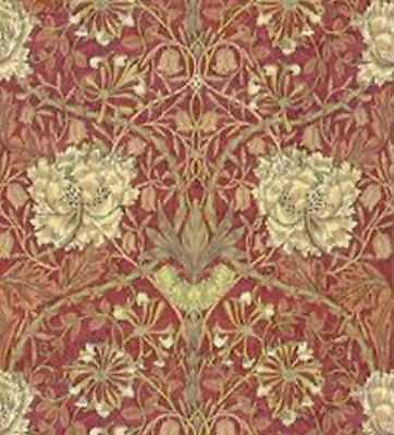 Dollhouse Miniature 1:12 Wallpaper - Hamilton - Burgundy Red