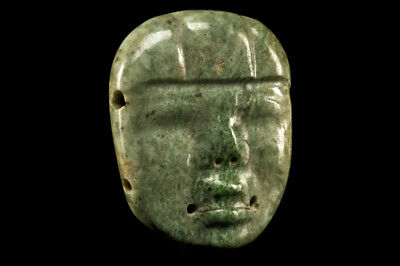 Authentic, Pre-Columbian Early Maya / Olmec Jade Maskette Ex- Sotheby's NY