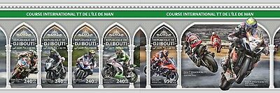 Z08 djb18319ab Djibouti 2018 Isle of man. TT MNH Mint Set
