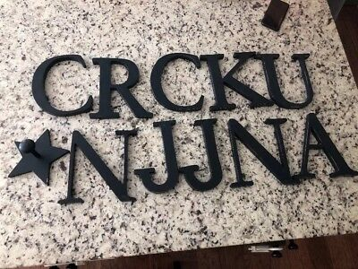 Pottery Barn Kids Navy Wall Letters