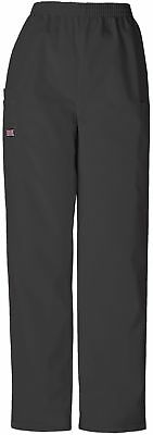 Cherokee Workwear Womens 4200 Elastic Waist Scrub Pant Regular/Petite/Tall Black