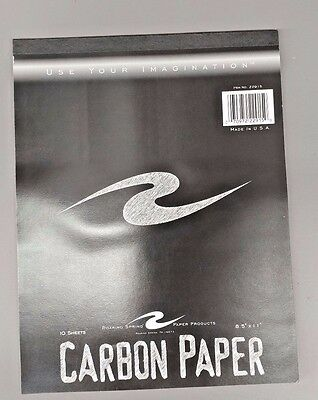 """Roaring Springs Carbon Paper - 10 sheets 8.5"""" x 11"""" NEW"""