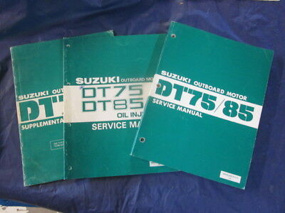 Suzuki Outboard Service Manuals DT75 DT85 OEM Genuine Oil Injection & Supplement