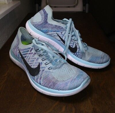 official photos 54dd4 1618c NIKE FREE 4.0 Flyknit Women's Running shoes size 10 Ice Blue