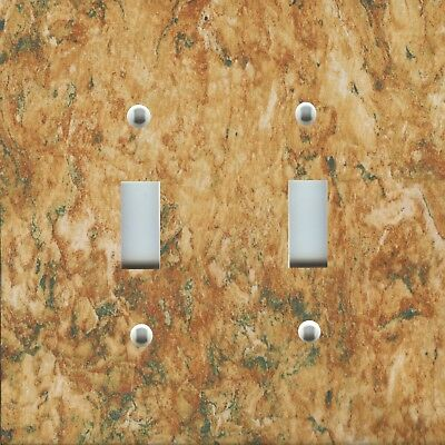 Light Switch Plate Cover RUSTIC HOME DECOR AGED COPPER BEIGE GOLD IVORY PATINA