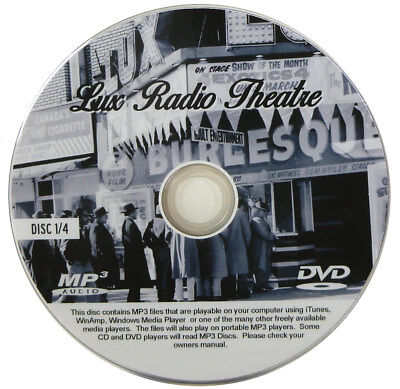 Lux Radio Theatre Show - OTR - Old Radio - ENTIRE COLLECTION ON  4 MP3 DVDs