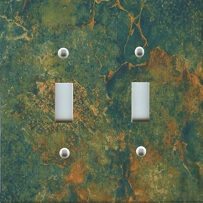 Light Switch Plate Cover RUSTIC HOME DECOR AGED COPPER BEIGE GOLD GREEN PATINA
