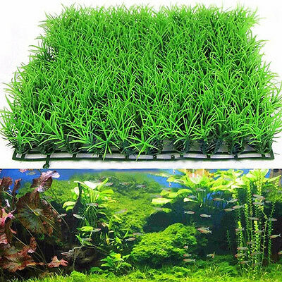 1pc Fish Tank Aquarium Artificial fake Plastic Green Grass Lawn Plant  Pro.