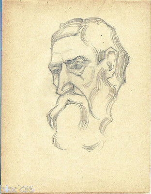 1914 Page #4 from the school album of RUSSIAN ARTIST M.A.Markov Man's portrait