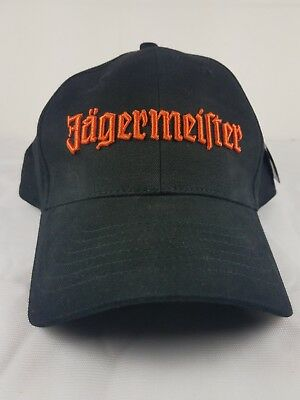 Promo Hat - Jagermeister Jager Black Adjustable Hat with Orange Writing