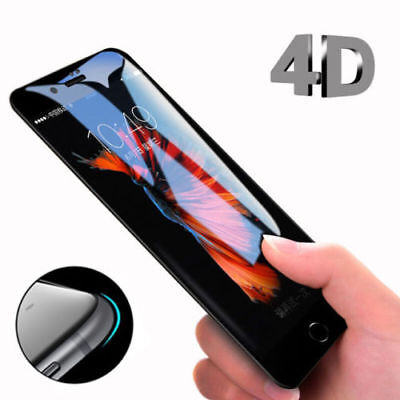4D Full Cover 9H Tempered Glass Screen Protector Film For iPhone 6 8 7 6S Plus