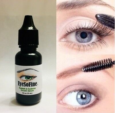 1 EyeSoFine Eyelash Eyebrow Growth Serum Thicker Longer Grow Lashes Brows Regrow