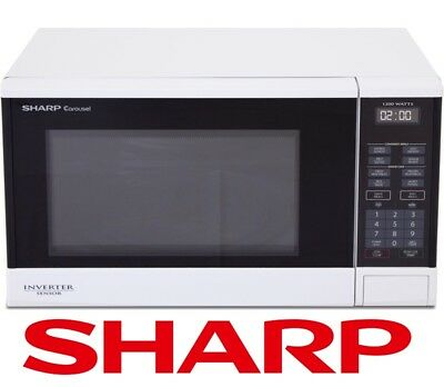 Sharp 35L 1200W Inverter Sensor Microwave Oven Cook White R350Y R350YW