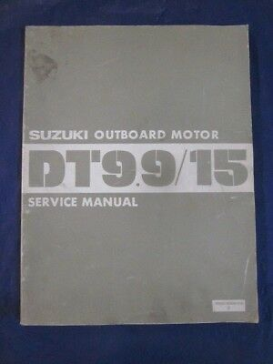 Suzuki Outboard Service Manual DT9.9  DT15 OEM Genuine