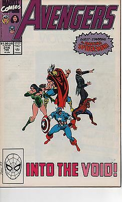 Avengers #315 Vf/nm / Nm- 1990 Spider-Man Joins Avengers! John Byrne Newsstand