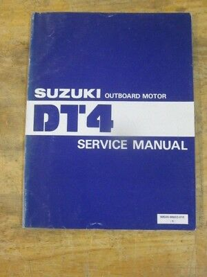 Suzuki Outboard Motor Service Manual DT4 OEM Genuine